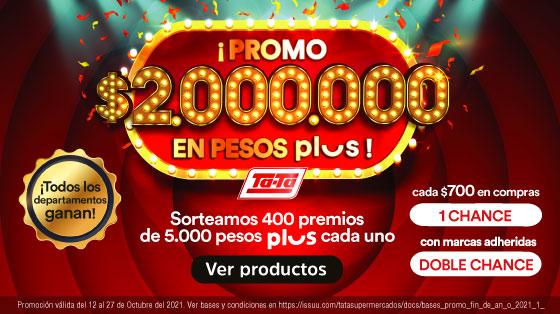 Promo 2 millones pesos plus